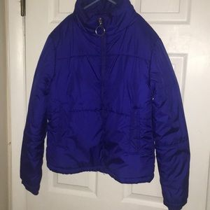 Girl's Warm Blue Puffer Coat Size large